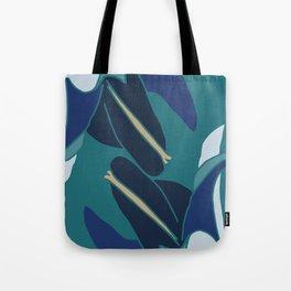 Bellflowers in Blue Tote Bag