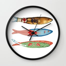 sardinhas 6 Wall Clock