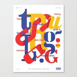 TSS 001 : Typography Canvas Print