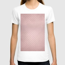 Grunge textured rose quartz small scallop pattern T-shirt