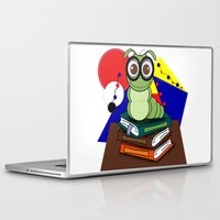 bookworm Laptop & iPad Skins featuring Bookworm 2 by Charles Oliver