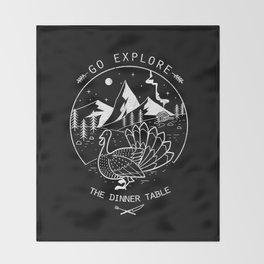 Go Explore The Dinner Throw Blanket