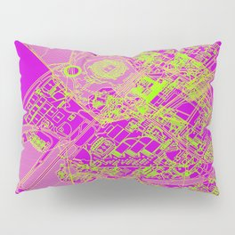 Superpose Map One Pillow Sham
