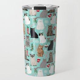 Catsmas cat christmas gifts pet friendly pet portraits holiday cat lady must haves Travel Mug