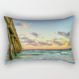 Beach Pier Rectangular Pillow