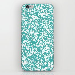 Small Spots - White and Verdigris iPhone Skin