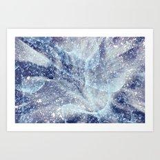 Winter pattern Art Print