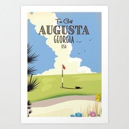 Augusta Georgia Golf Poster Art Print