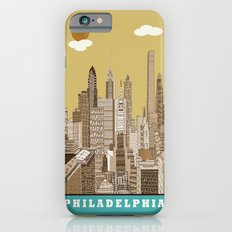 Philadelphia skyline vintage Slim Case iPhone 6s