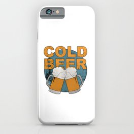 Cold beer iPhone Case