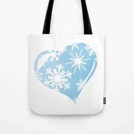 Ice Heart Tote Bag