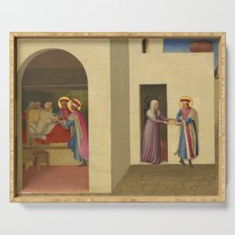 """Fra Angelico (Guido di Pietro) """"The Healing of Palladia by Saint Cosmas and Saint Damian"""" Serving Tray"""