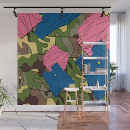 Army Girl Clothing Wall Mural