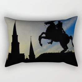 Landmark Silhouettes in Casa de Armas Rectangular Pillow