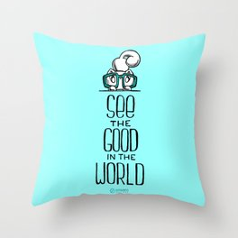 Skribbles: See the good Throw Pillow