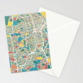 San Francisco Map Art Stationery Cards