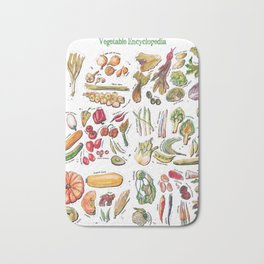 Vegetable Encyclopedia Bath Mat