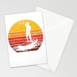 Stand Up Paddle Boarding Man Stationery Cards
