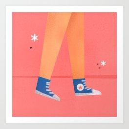 Girls just want Converse Art Print
