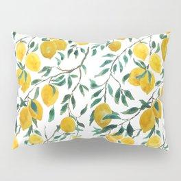 watercoor yellow lemon pattern Pillow Sham