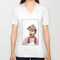 vendetta V-neck T-shirts featuring Robin Vendetta by Mirko Richter Grafik