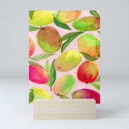 Mango Watercolor Painting Mini Art Print