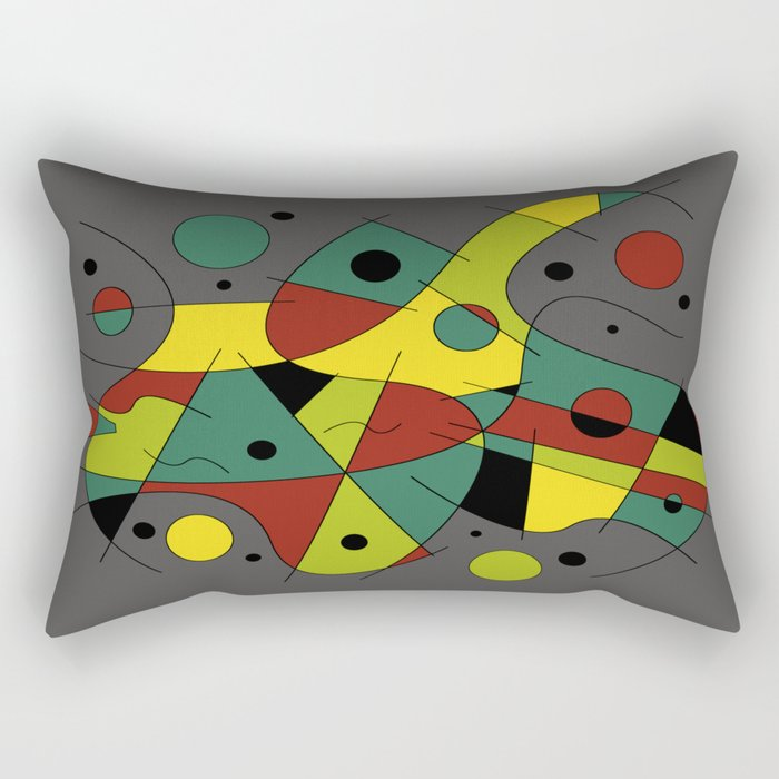 Abstract #226 The Cellist #2 Rectangular Pillow