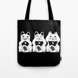 Three Smart Cats Tote Bag