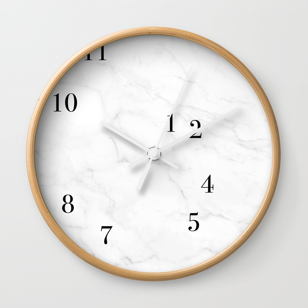 Awesome Marble Clock Wall Clock By Deedubs (CLK8270589) Photo Gallery