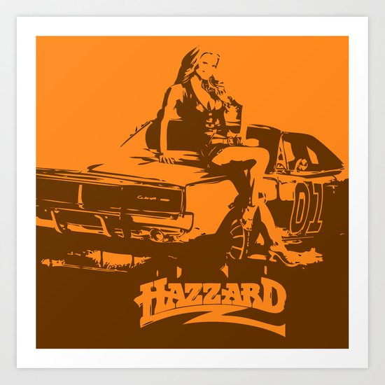 Hazzard & Girls Art Print