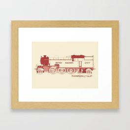 Thompson L1 Red Framed Art Print