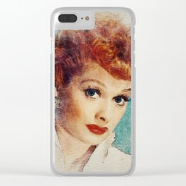 Lucille Ball Clear iPhone Case