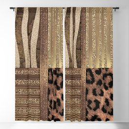 Gold Lioness Safari Chic Blackout Curtain