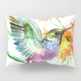 Hummignbird and Flowers Pillow Sham