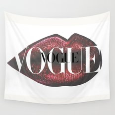 Vogue Fashion Lips Wall Tapestry