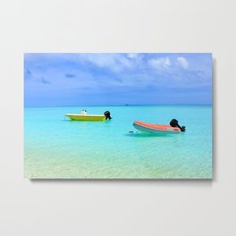 French polynesia seascape turquoise sea Metal Print