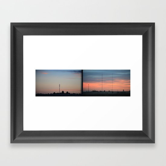 In The Plains (Planes) Field Framed Art Print