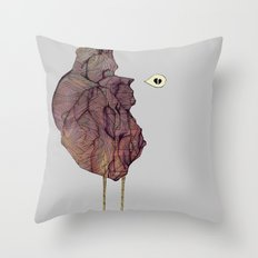 This is not a colorful heart Throw Pillow