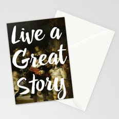 LIVE A GREAT STORY Stationery Cards