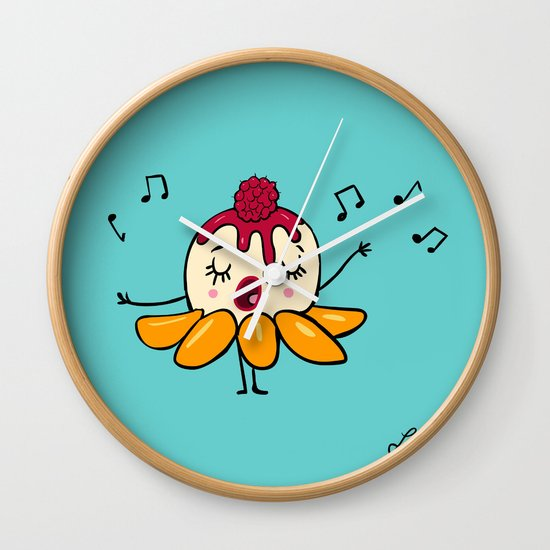Peach Melba Wall Clock