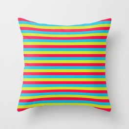 funny stripes colorful pattern Throw Pillow