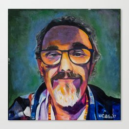 Portrait of the Artist Smirking Canvas Print