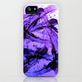Ferocious And Calming Lavender Abstract iPhone Case