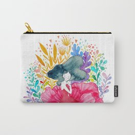 Floral Girl Carry-All Pouch