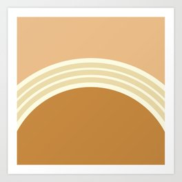 one day –earthen clay layers 2 Art Print