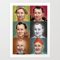 bill murray Art Prints featuring Bill Murray by Dave Collinson