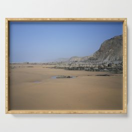 SANDYMOUTH BEACH NORTH CORNWALL FROM MENACHURCH POINT Serving Tray