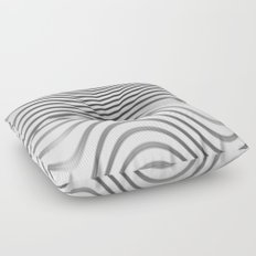 Organic Abstract 02 WHITE Floor Pillow
