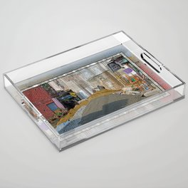 CONSTRUCTION SITE POKHARA NEPAL Acrylic Tray