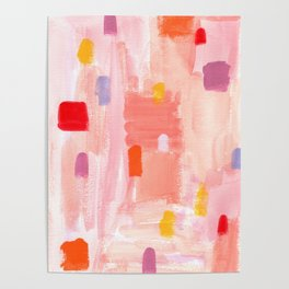 Put Sorrows In A Jar - abstract modern art minimal painting nursery Poster